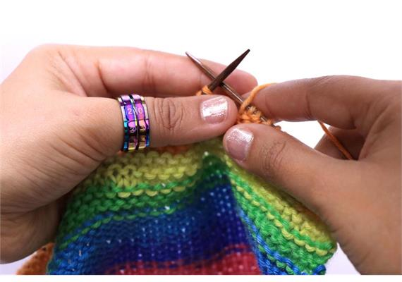KnitPro Reihenzähler-Ring bunt Grösse 11