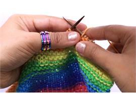 KnitPro Reihenzähler-Ring bunt Grösse 7
