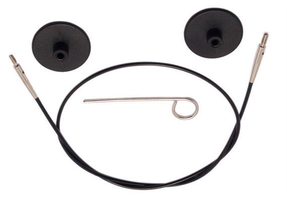 KnitPro Seil für Rundstricknadeln 120cm schwarz