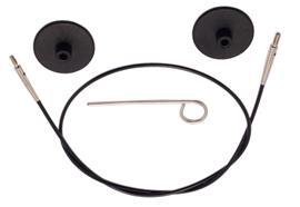 KnitPro Seil für Rundstricknadeln 60cm schwarz