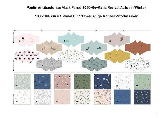 Poplin Antibacterian Mask Panel-Set 04