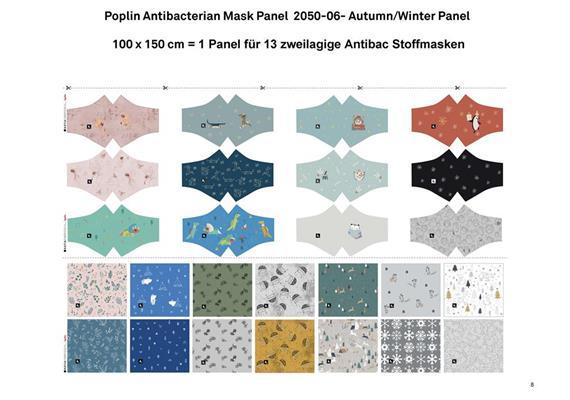 Poplin Antibacterian Mask Panel-Set 06