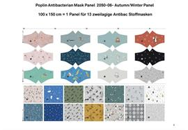 Poplin Antibacterian Mask Panel-Set 06